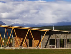 Outside IN House, Puerto Natales, Chile. Fernanda Vuilleumier Arquitectura